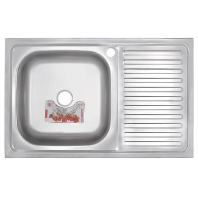 Кухонная мойка накладная ZERIX Z8050L-08-180E (SATIN) (ZS0595)