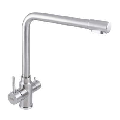 Смеситель для кухни из нержавеющей стали SUS304 HAIBA SUS 021 с выходом для питьевой воды (HB3908)