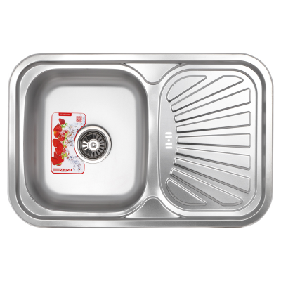 Кухонная мойка врезная ZERIX Z7549-08-180D (decor) (ZX1607)