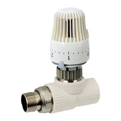 Кран термостатический с термоголовкой прямой полипропиленовый для PPR трубы KOER 25x3/4 K0156.PRO (KP0199)