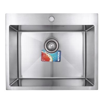 Кухонная мойка врезная MIXXUS MX6050-200x1.2-HANDMADE (MX0569)