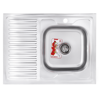 Кухонная мойка накладная ZERIX Z8060R-06-160MD (MICRO DECOR) (ZS0608)