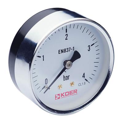 Манометр аксиальный KOER KM.611A (0-4 bar), D=63мм, 1/4 (KR0210)