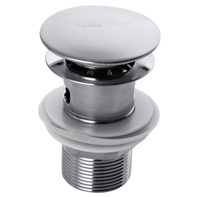 Донный клапан ZERIX LR65-2 (кнопка с переливом) (ZX2638)
