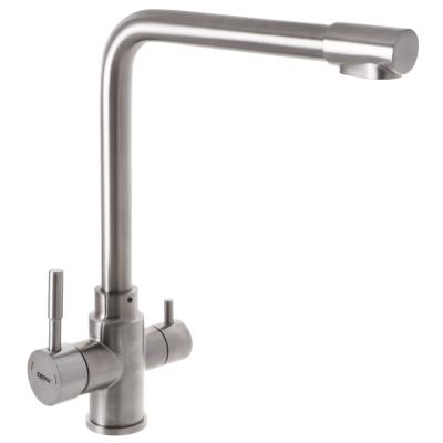 Смеситель для кухни из нержавеющей стали SUS304 ZERIX LR4355-3 с выходом для питьевой воды (LL1201)