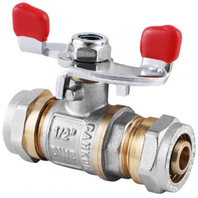 Кран для металлопластиковой трубы СК WING 16x16 (WP0004)