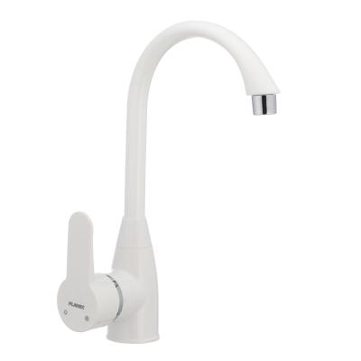 Смеситель для кухни PLAMIX Mario-011 белый (без подводки) (PM0015)