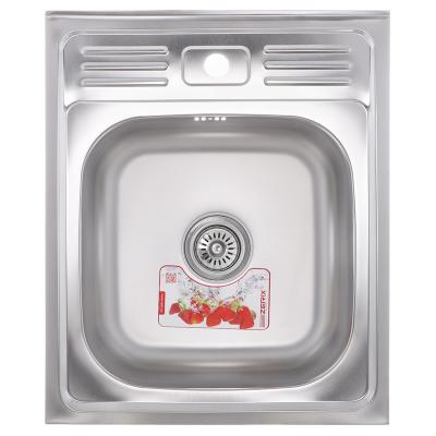 Кухонная мойка накладная ZERIXZ 5060-06-160E (satin) (ZX1611)