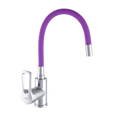Смеситель для кухни ZERIX SAR 181 излив (гусак) гибкий силиконовый PURPLE (ZX2673)