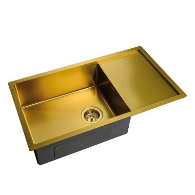 Кухонная мойка врезная MIXXUS MX7844-200-x1.2-PVD-GOLD (MX0563)