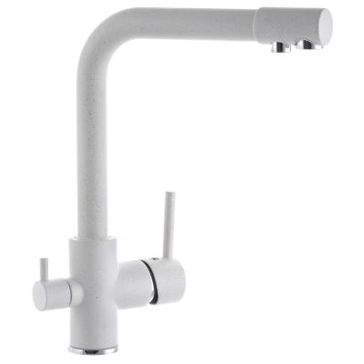 Смеситель для кухни ZERIX LR4055W-3 с выходом для питьевой воды белый (ZX2643)