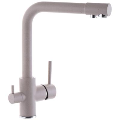 Смеситель для кухни ZERIX LR4055K-3 с выходом для питьевой воды песочный (ZX2644)