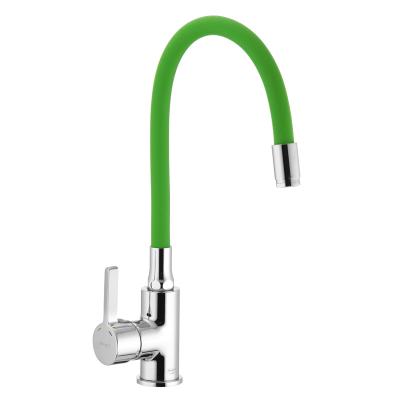 Смеситель для кухни IBERGRIF M22112-5 с зеленым гибким изливом (IB0071)