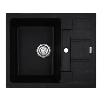 Кухонная мойка гранитная врезная HAIBA HB8210-G226 BLACK 620x500x200 (HB0983)
