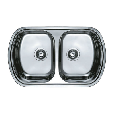 Кухонная мойка врезная HAIBA 80x49 DOUBLE (decor) (HB0572)