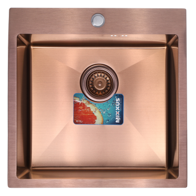 Кухонная мойка врезная MIXXUS Бронзовая MX5050-200x1.0-PVD (MX0579)