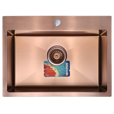 Кухонная мойка врезная MIXXUS Бронзовая MX5843-200x1.0-PVD (MX0577)