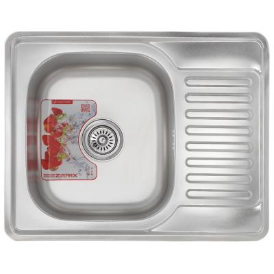 Кухонная мойка врезная ZERIX Z6350-08-180D (decor) (ZM0564)
