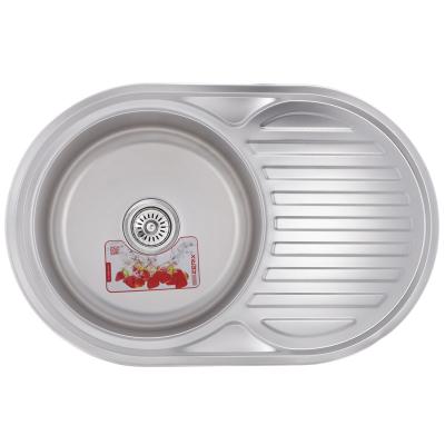 Кухонная мойка врезная ZERIX Z7750-06-180E (satin) (ZX1594)