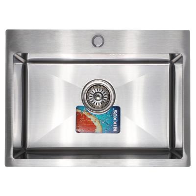 Кухонная мойка врезная MIXXUS MX5843-200x1.0-SATIN (MX0575)