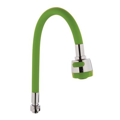 Излив (гусак) гибкий силиконовый ZERIX SPS-01 GREEN (ZX2624)