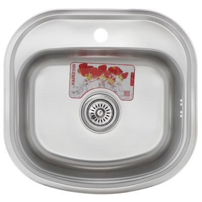 Кухонная мойка врезная ZERIX Z4947-08-180E (satin) (ZM0559)