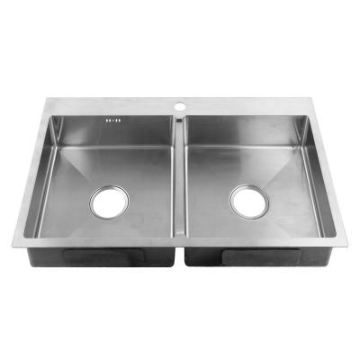 Кухонная мойка из нержавеющей стали SUS304 ZERIX ZUS8350-HM (ZM0575)