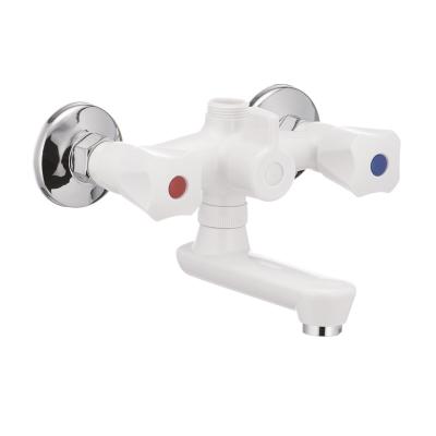 Смеситель для ванны PLAMIX Omega-142 белый (без шланга и лейки) (PM0021)