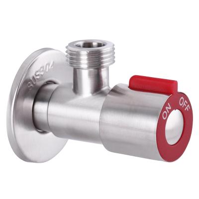 Кран приборный из нержавеющей стали SUS304 MIXXUS 1/2x1/2 VAL-02 красный (SS0049)
