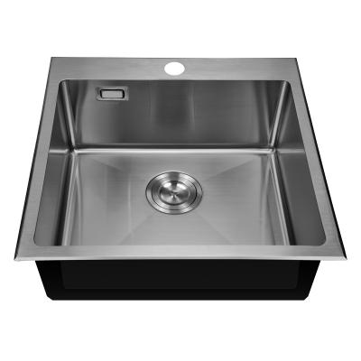 Кухонная мойка врезная MIXXUS MX(304)5050-200x1.2-HANDMADE (MX0571)