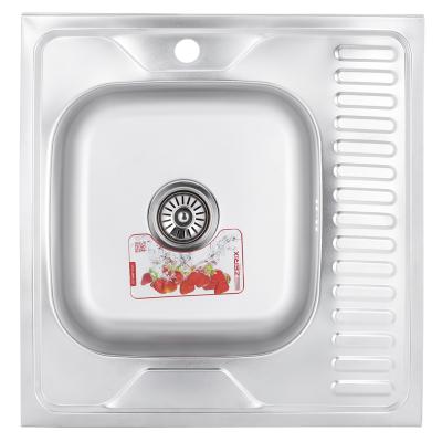 Кухонная мойка накладная ZERIX Z6060L-08-180MD (MICRO DECOR) (ZS0587)