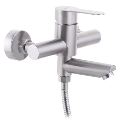 Смеситель для ванны из нержавеющей стали SUS304 ZERIX DAX-009 (EURO) (ZX3146)